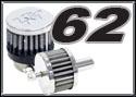 K&N 62 Series kits - Steel Base Crankcase Vent Filters